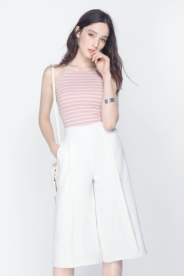 Canary Striped Crop Top