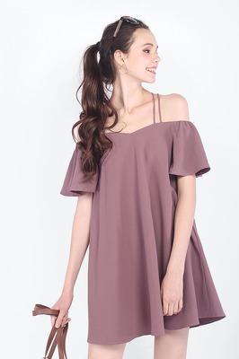Rosewood Off Shoulder Pocket Dress