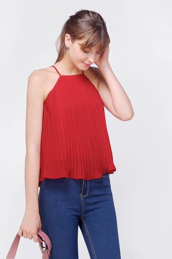 Fields Pleated Top