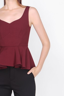 Clara Sweetheart Peplum Top