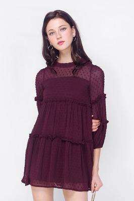 Elsie Textured Babydoll Dress