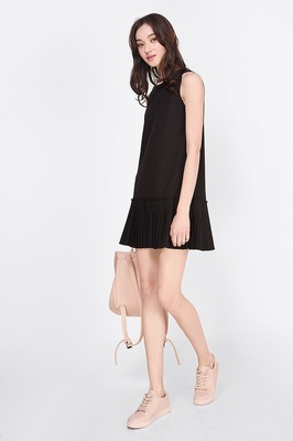 Kira Pleated Dropwaist Dress