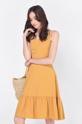 Bora Ruffle Midi Dress