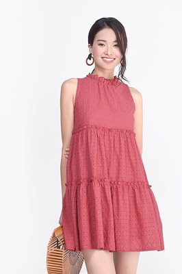 Airin Eyelet Babydoll Dress