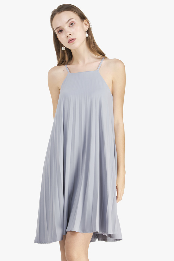 Serena Pleated Swing Dress