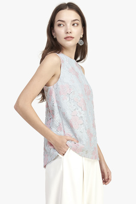 Charli Lace Flare Back Top