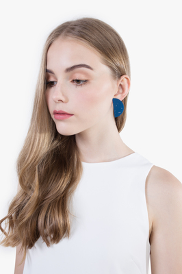Crescent Splatter Earrings