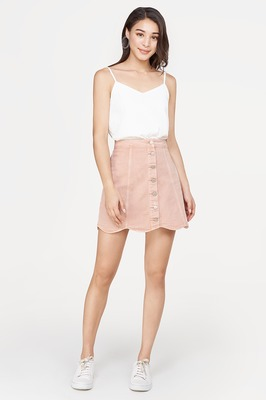 Liezel Denim Button Skirt