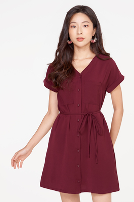 Narissa Belted Shirt Dress