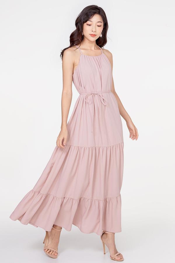 Azure Tiered Maxi Dress