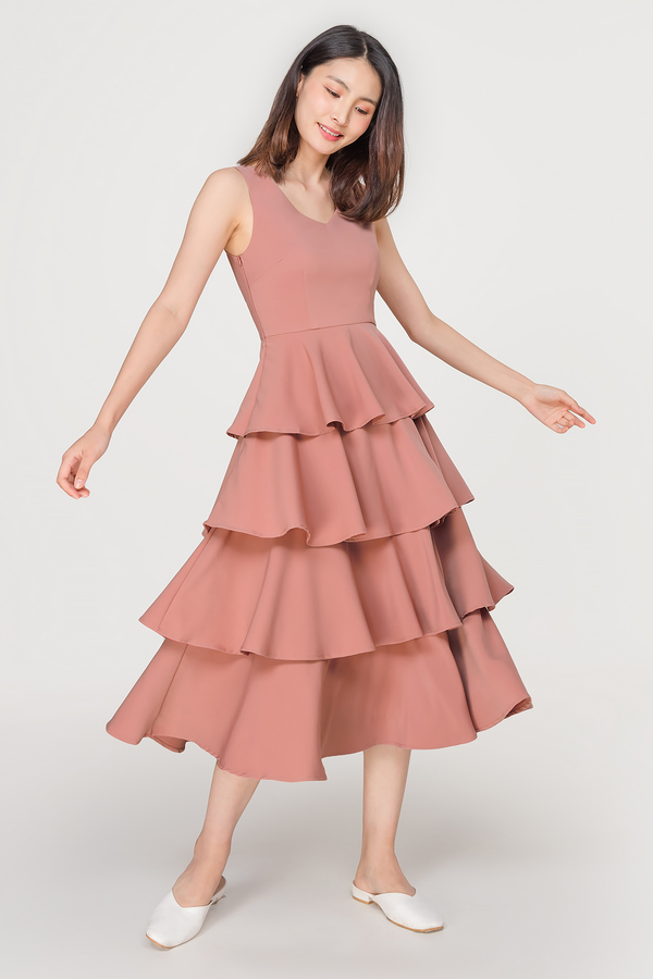 Cupcake Layered Midi Dress