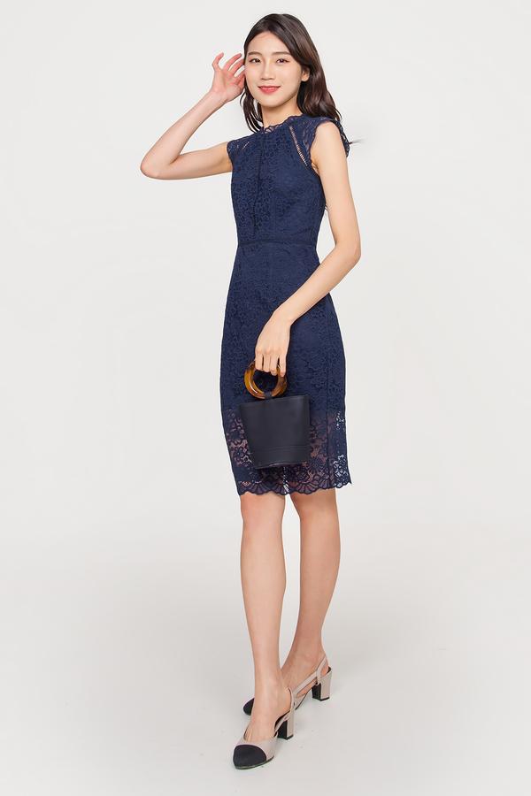Primrose Oriental Lace Midi Dress