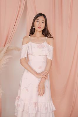 Windflower Cold Shoulder Midi Dress