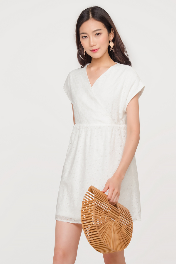 Leonie Eyelet Babydoll Dress