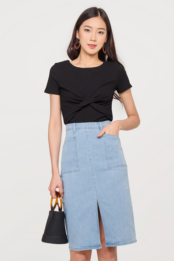 Astrid Denim Midi Skirt