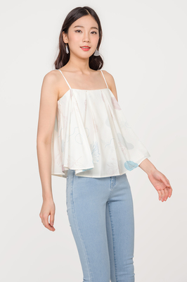 Verdant Pleated Top