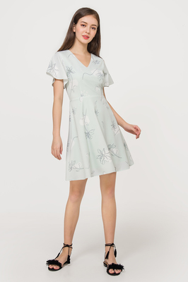Windflower Flutter Sleeve Dress