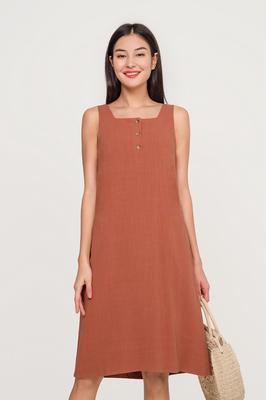 Noa Linen Midi Dress