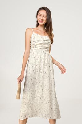 Melrose Ruched Midi Dress