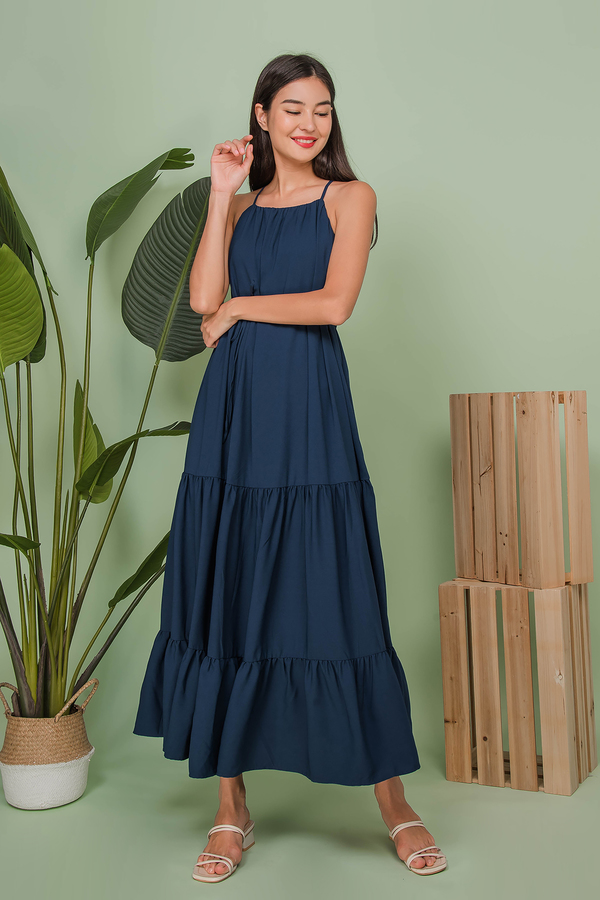 Azure Tiered Maxi Dress
