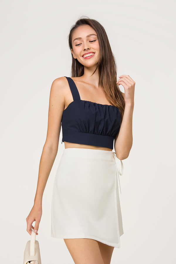 Tess Ruched Bustier Top