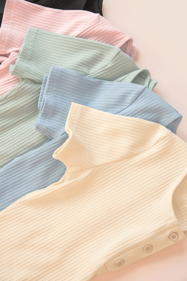 Adria Button Ribbed Top (Bundle Series)
