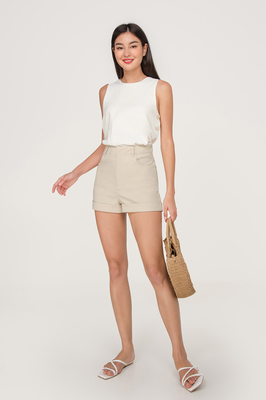 Edith Side Button Top